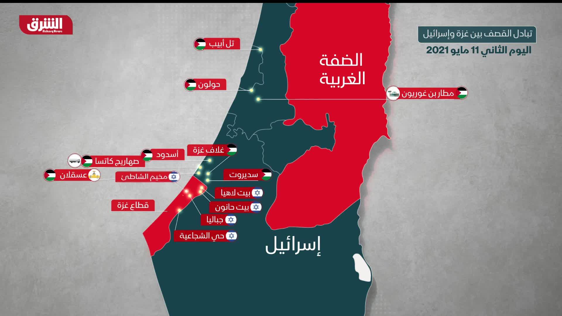 تبادل القصف بين غزة وإسرائيل