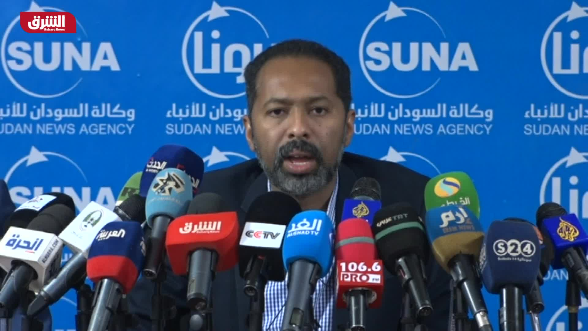 مؤتمر صحفي لوزراء في الحكومة الانتقالية السودانية
