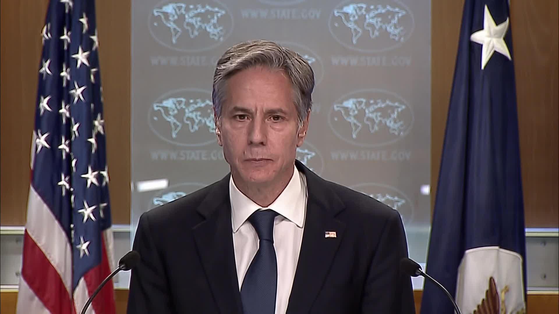 مؤتمر صحفي لوزير الخارجية الأميركي أنتوني بلينكن