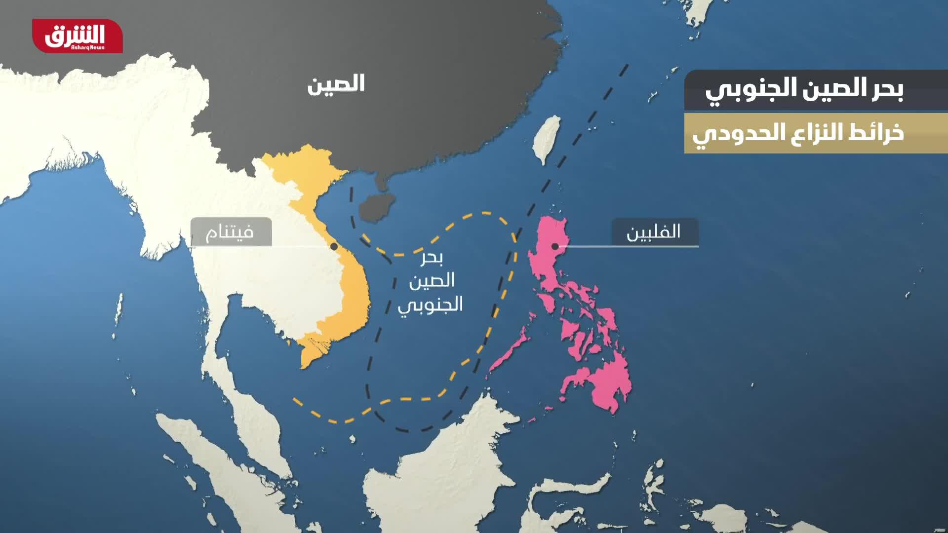 بحر الصين الجنوبي - خرائط النزاع الحدودي