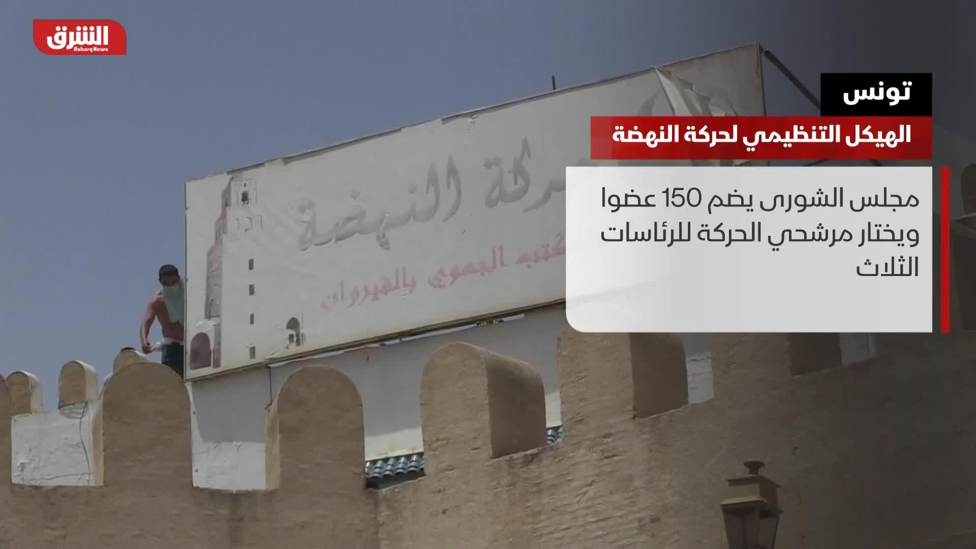 تونس.. الهيكل التنظيمي لحركة النهضة