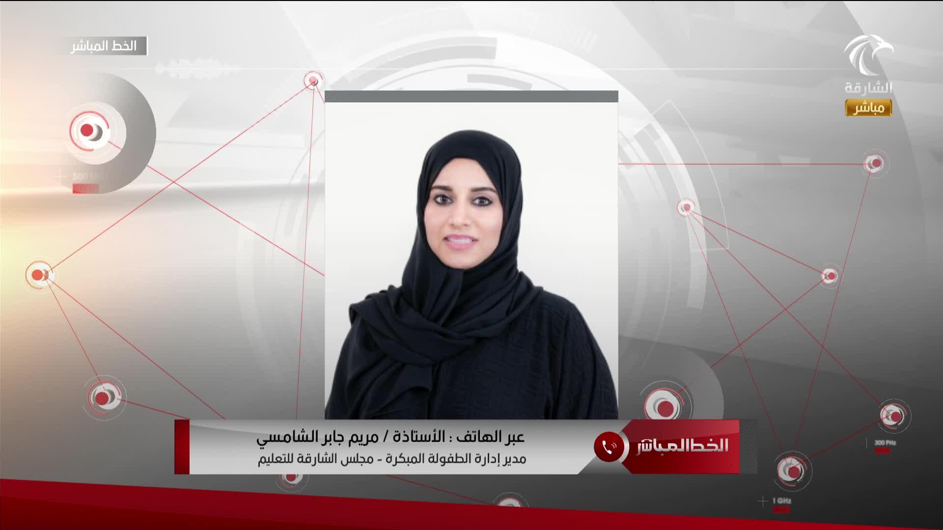 مداخلة مريم جابر الشامسي - مدير إدارة الطفولة المبكرة بالشارقة  12.09.2021